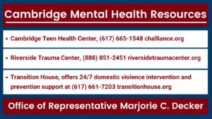 Cambridge Mental Health Resources