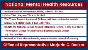 National Mental Health Resources